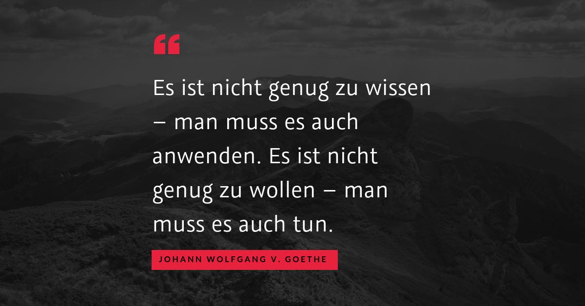 """Punkte als Motivationsbooster? - """"Es ist nicht genug zu wissen – man muss es auch anwenden. Es ist nicht genug zu wollen – man muss es auch tun."""" (Johann Wolfgang von Goethe)"""